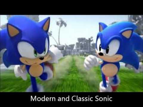 classic and modern sonic meet again