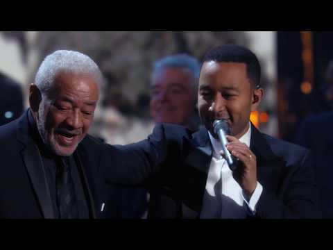 """Bill Withers, Stevie Wonder, John Legend perform """"Lean On Me"""" at the 2015 Induction Ceremony"""