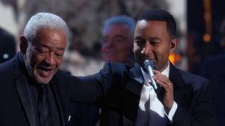 Download lagu Bill Withers Stevie Wonder John Legend perform Lean On Me at the 2015 Induction Ceremony