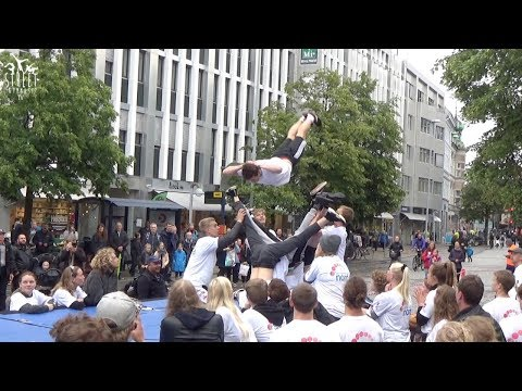 """Street Gymnastics with """"Spring Mod Nord"""" by truck to DGI´s Sport & Culture Festival Aalborg"""