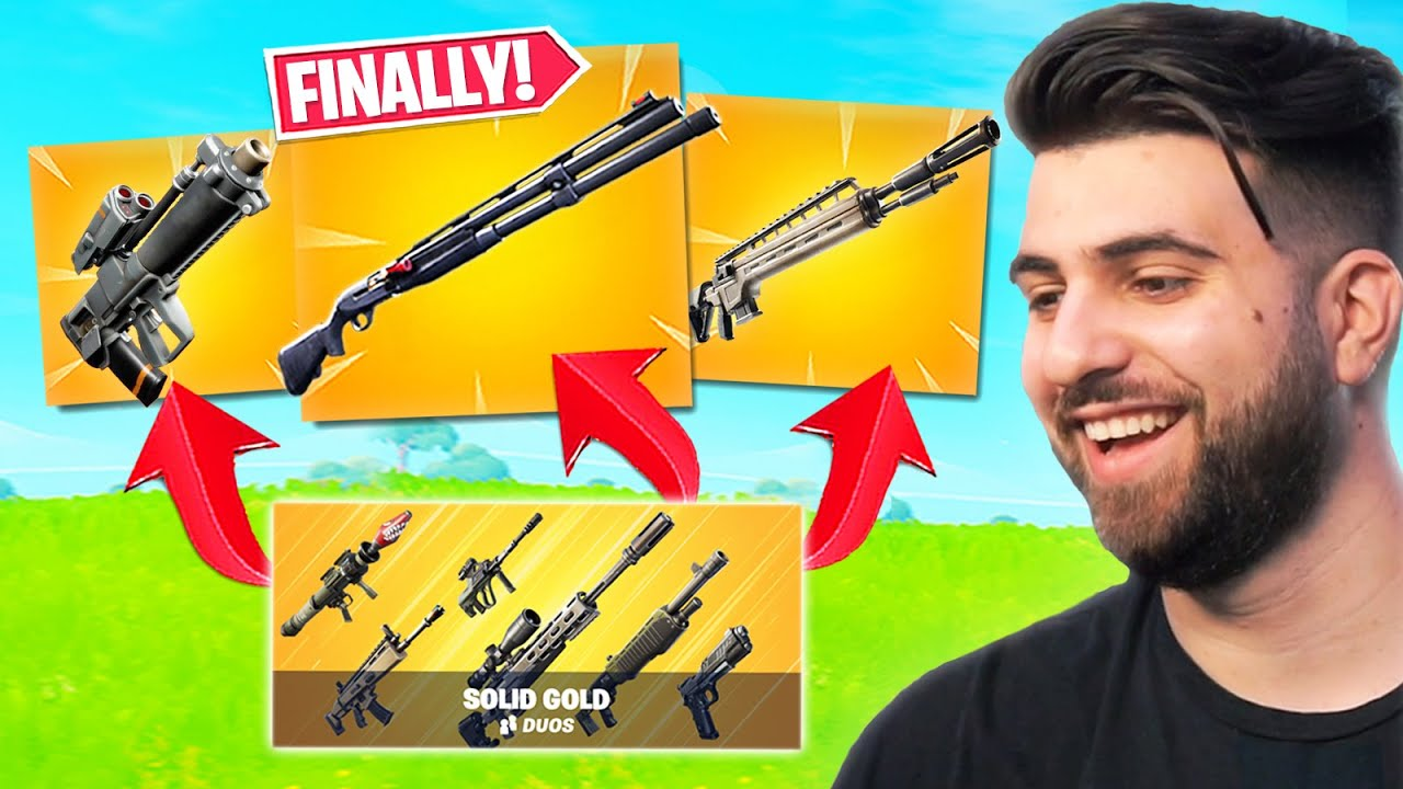 Epic Brought Back My FAVORITE Items in Solid Gold!  - Fortnite Season 3 LTM