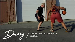 Basketball with Mike Elgin & Jake Crist, Behind The Scenes at Destiny Wrestling - Diary