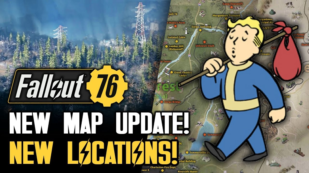 Fallout 76 - HUGE NEW MAP UPDATE! All Locations So Far! New Gameplay  Details!