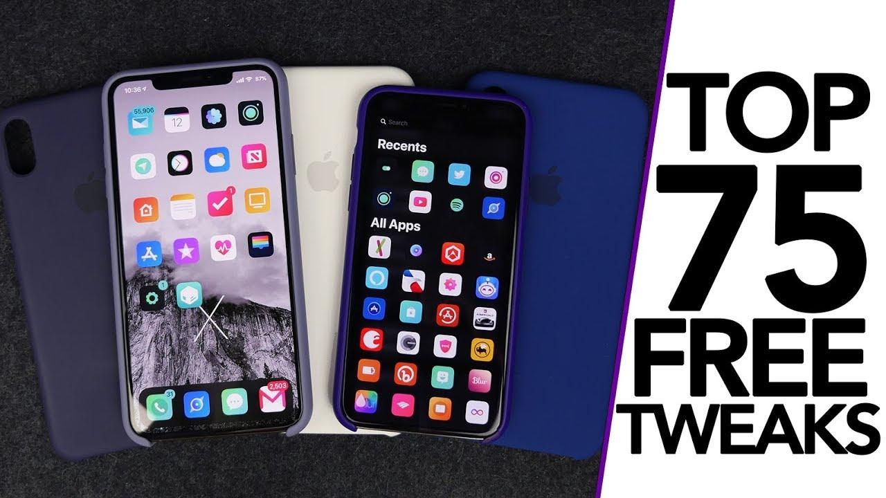 Top 75 Best FREE iOS 12 1 2 Jailbreak Tweaks! A12 Compatible Tweaks!