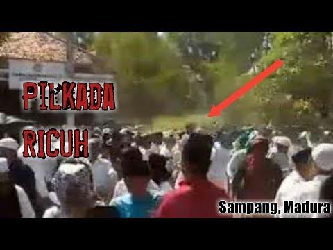 Bentrok Pilkada Sampang, Madura.