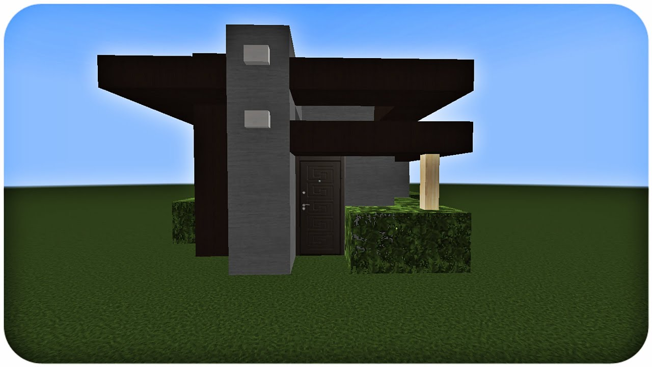 Minecraft tuto construction d 39 une petite maison moderne youtube - Construction minecraft maison ...