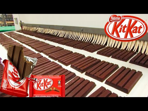 Kit Kat Factory   How Kit Kats Are Made In Factory   How It's Made Kit Kat   Food Factory ➤#13