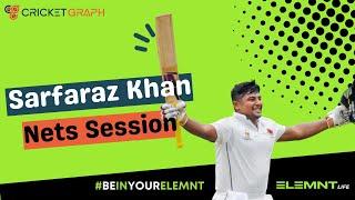 Sarfaraz Khan (RCB) IPL  batting nets session with brother in Mumbai 500K + VIEWS | CricketGraph