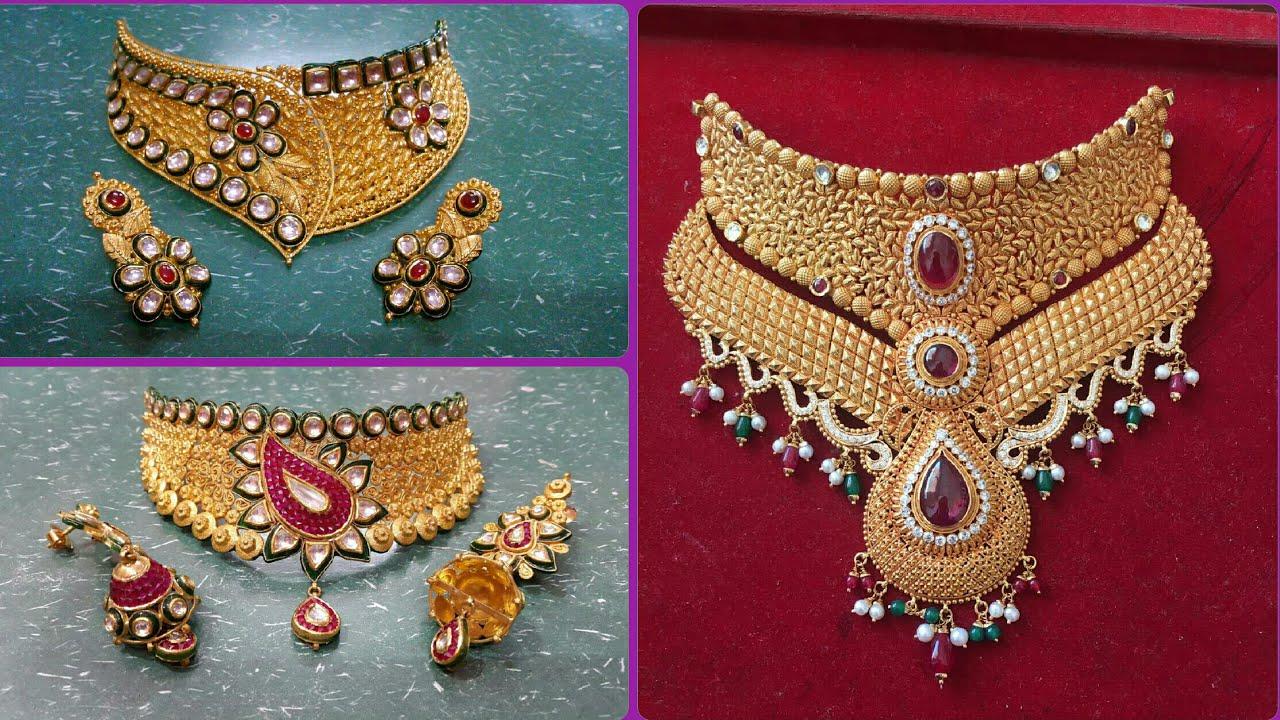 Necklace Design   Latest Rajputi Necklace Design   Choker Necklace ...