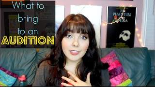 What to Bring to an Audition! | What's in my Audition Bag 2017