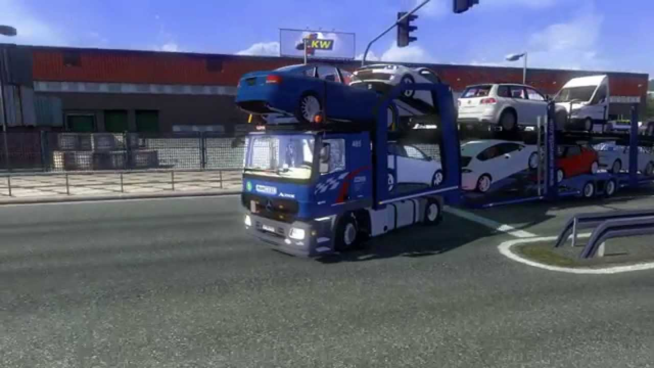 ets2 v1 16 man car transport   youtube