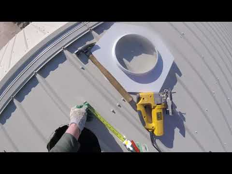 Install Turbine Vent on Metal Roof, Whirlybird, Slow House Update 23