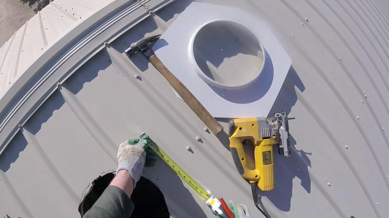 Install Turbine Vent On Metal Roof Whirlybird Slow