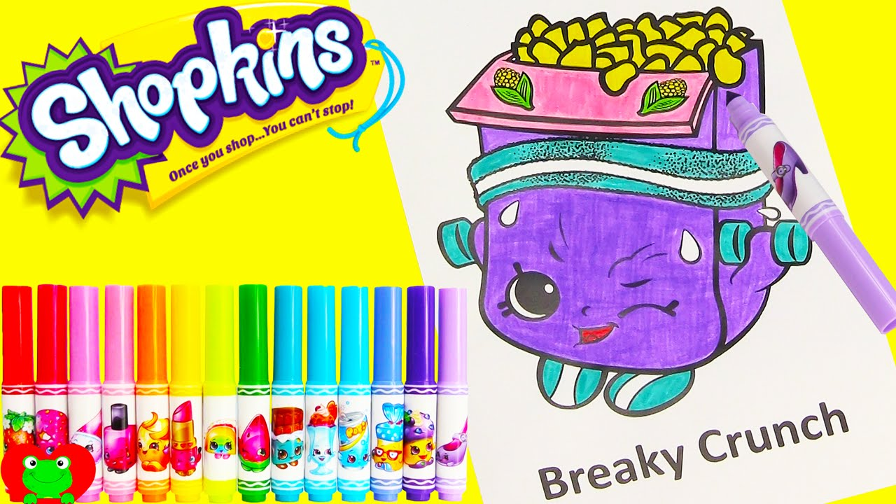 Shopkins Breaky Crunch Coloring Page With Happy Places And
