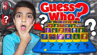 FORTNITE GUESS WHO CHALLENGE WITH MY 5 YEAR OLD LITTLLE BROTHER | KID PLAYS GUESS THAT FORTNITE SKIN