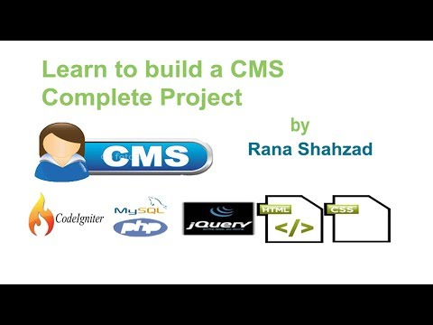 CMS  in Codeigniter Php and Mysql Introduction
