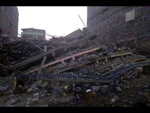 Four storey building collapsed in Kariobangi, Nairobi
