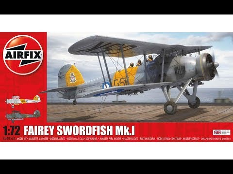 Airfix : Fairey Swordfish Mk.I : 1/72 Scale Model : In Box Review