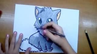 Котёнок | Аниме(В этом видео вы увидите как нарисовать Котёнка-аниме Если вам понравилось это видео, то поставьте лайк..., 2016-12-06T18:28:46.000Z)