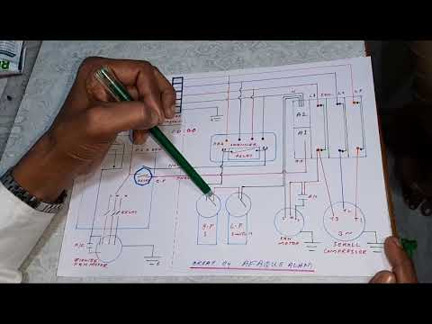 three phase air conditioner wiring diagram of lp,hp connection (cassate ac)