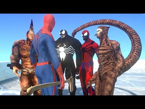 SPIDERMAN VS SPIDER-MAN ENEMIES - VENOM, SCORPION, CARNAGE, RHINO VS SPIDERMAN