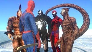 spiderman vs spider man enemies venom scorpion carnage rhino vs spiderman