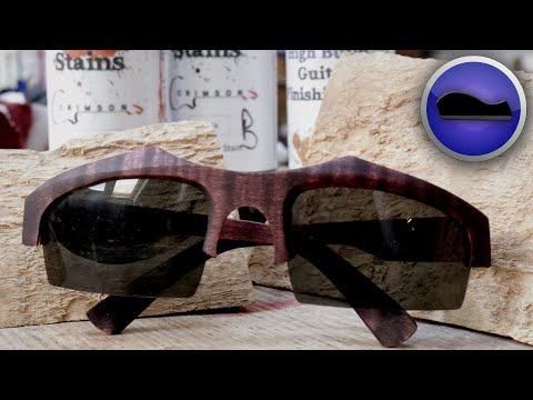 Scrap wood Sunglasses hand-carved...A cool Wood-carving Tutorial