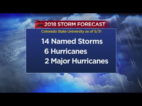 Forecasters Predicting Slightly Less Severe 2018 Hurricane S