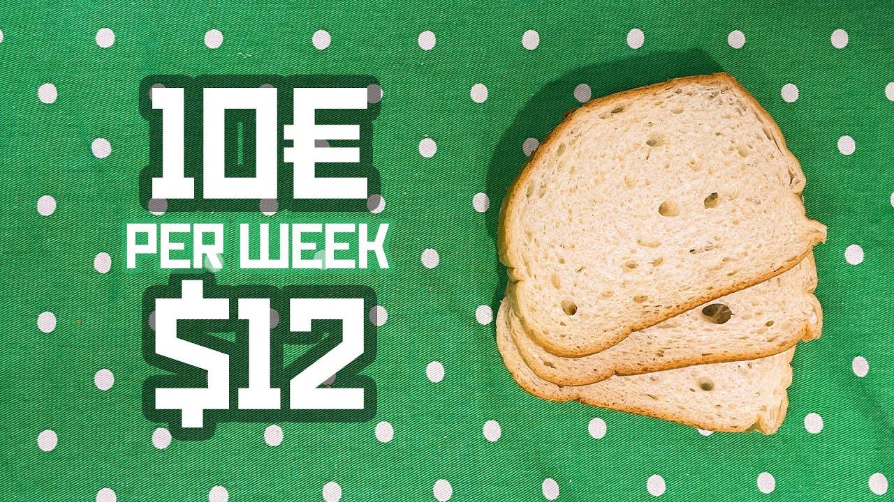 BUDGET WEEK - How I live on 10€ / $12 per week