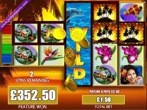 £411.50 MEGA BIG WIN (274 X STAKE) FORTUNES OF THE CARIBBEAN™ - BIG WIN SLOTS AT JACKPOT PARTY