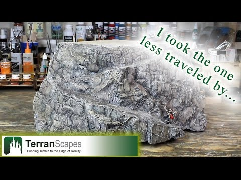 TerranScapes - Ocean Board WIP #11 - Painting the Cliffs