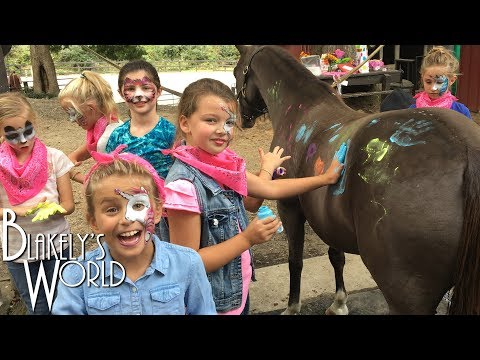 We Painted a Horse! | Blakely's Birthday Party