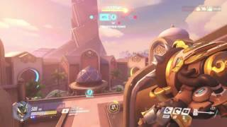 Overwatch - Oasis Jump Pad Charge Kill