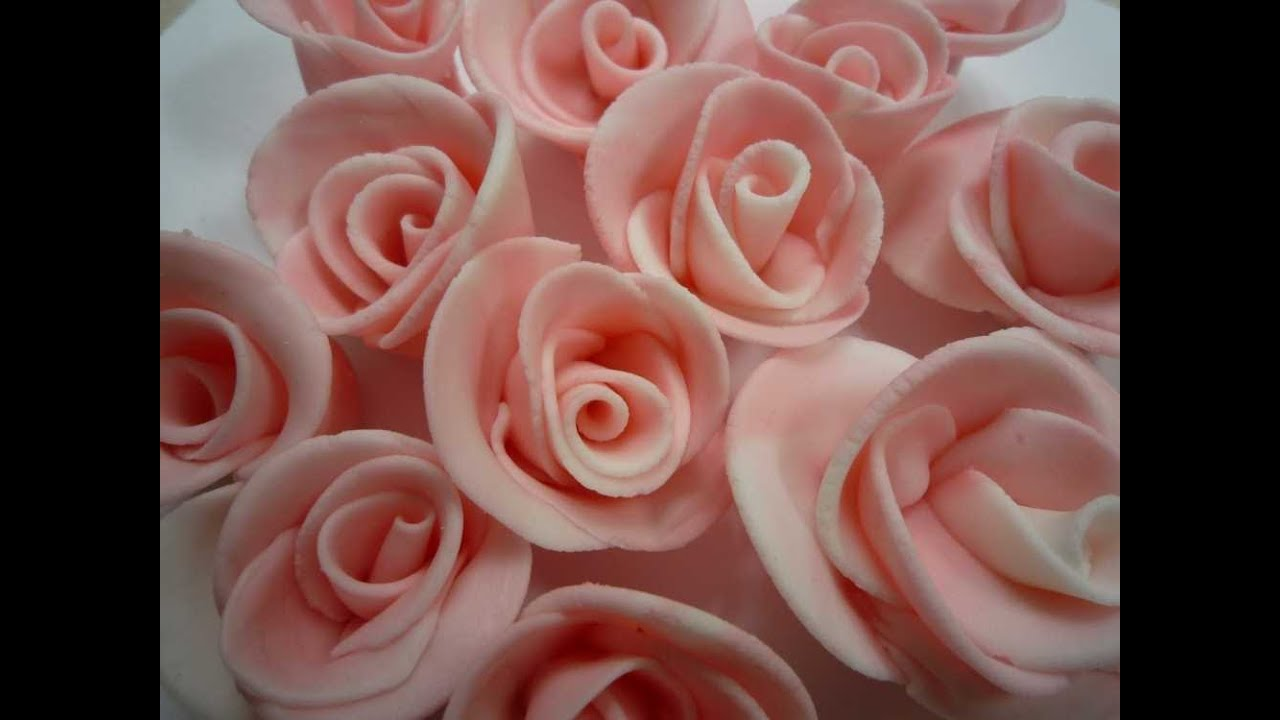 fondant rosen selber machen how to make fondant roses youtube. Black Bedroom Furniture Sets. Home Design Ideas