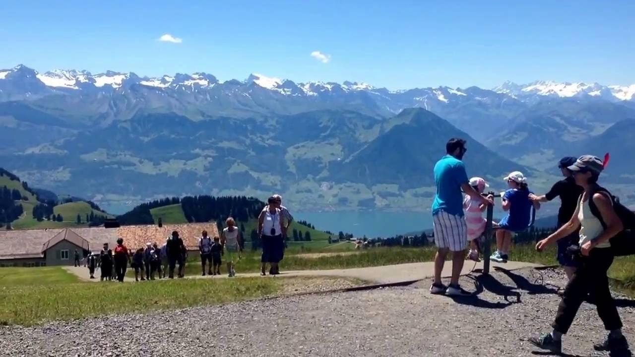 top of mount rigi switzerland auf der rigi youtube