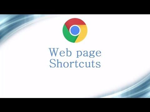 Google Chrome Keyboard Shortcuts Video #3 - Web page Shortcuts