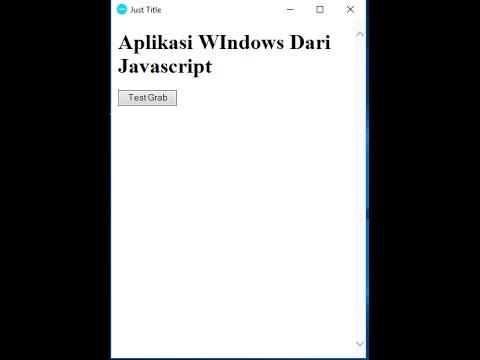 Membuat Aplikasi Desktop Dengan Javascript