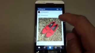 Blackberry Z10 with running Android Apps Instagram, Google Maps, etc Free HD Video