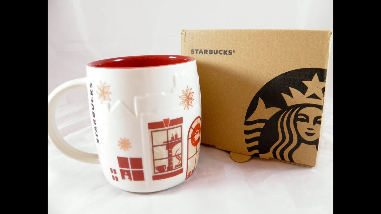 starbucks christmas mug holiday coffee oz cup red 2013 new vietnam ceramic mugs 24 11 13 youtube - Christmas Coffee Cups