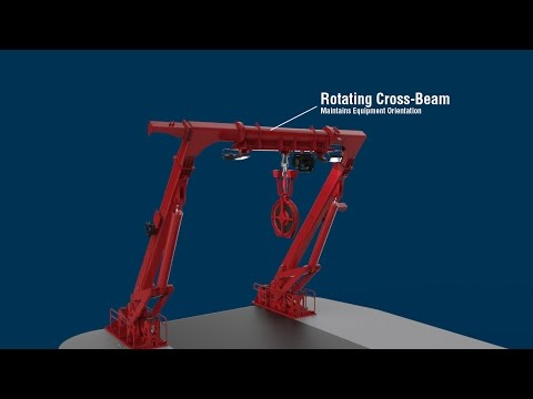 Allied Marine Crane A-Frame with Rotating Cross Member