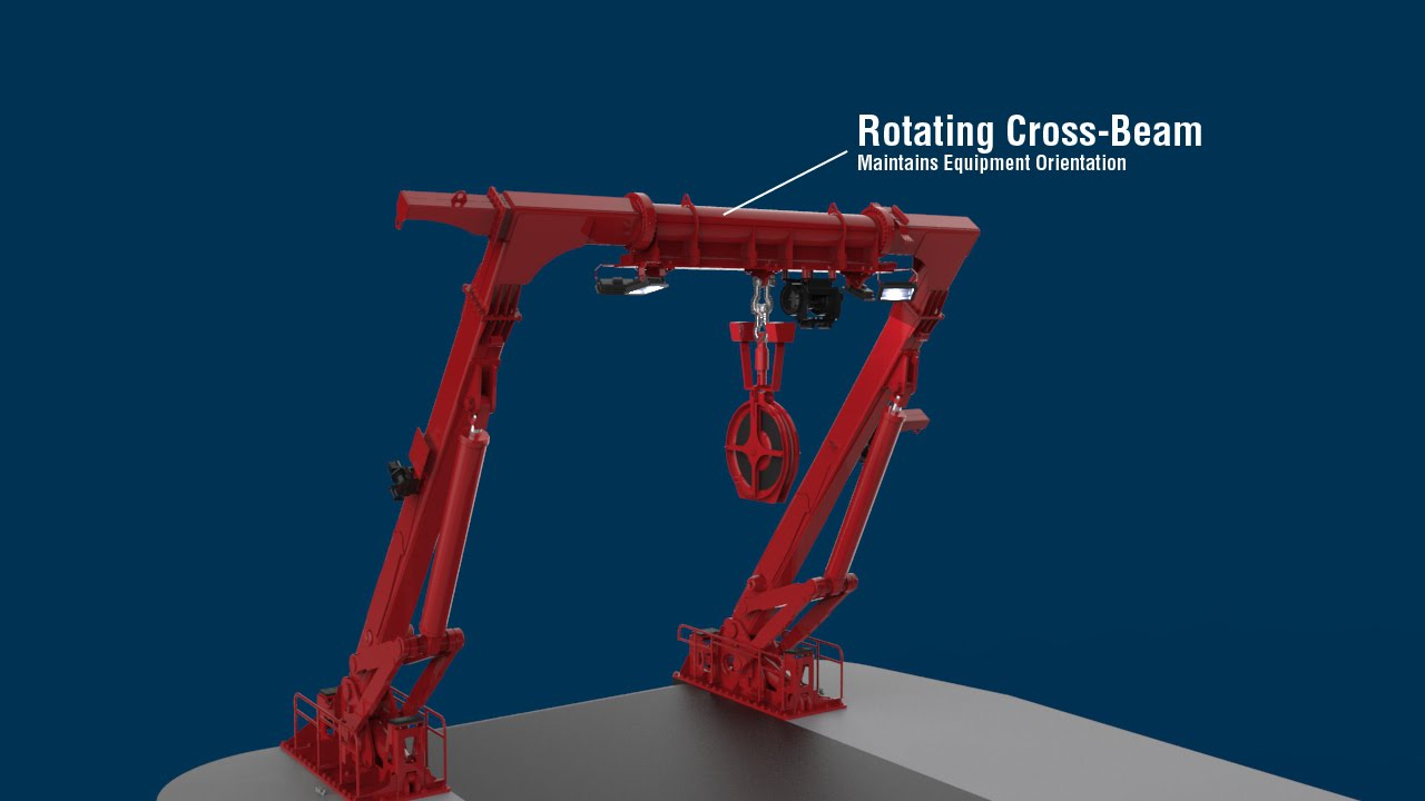 Allied Marine Crane A Frame With Rotating Cross Member