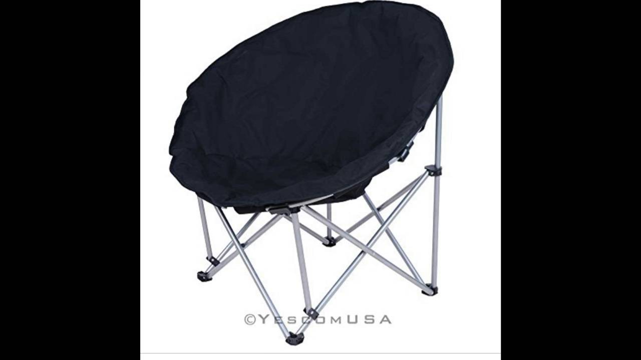 New Large Folding Moon Chair Saucer Padded Comfort Lounge Bedroom Garden  Furniture Seat Opt