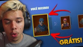 GANHEI SKINS DO BATTLE ROYALE DE GRAÇA! | Fortnite Salve O Mundo #2