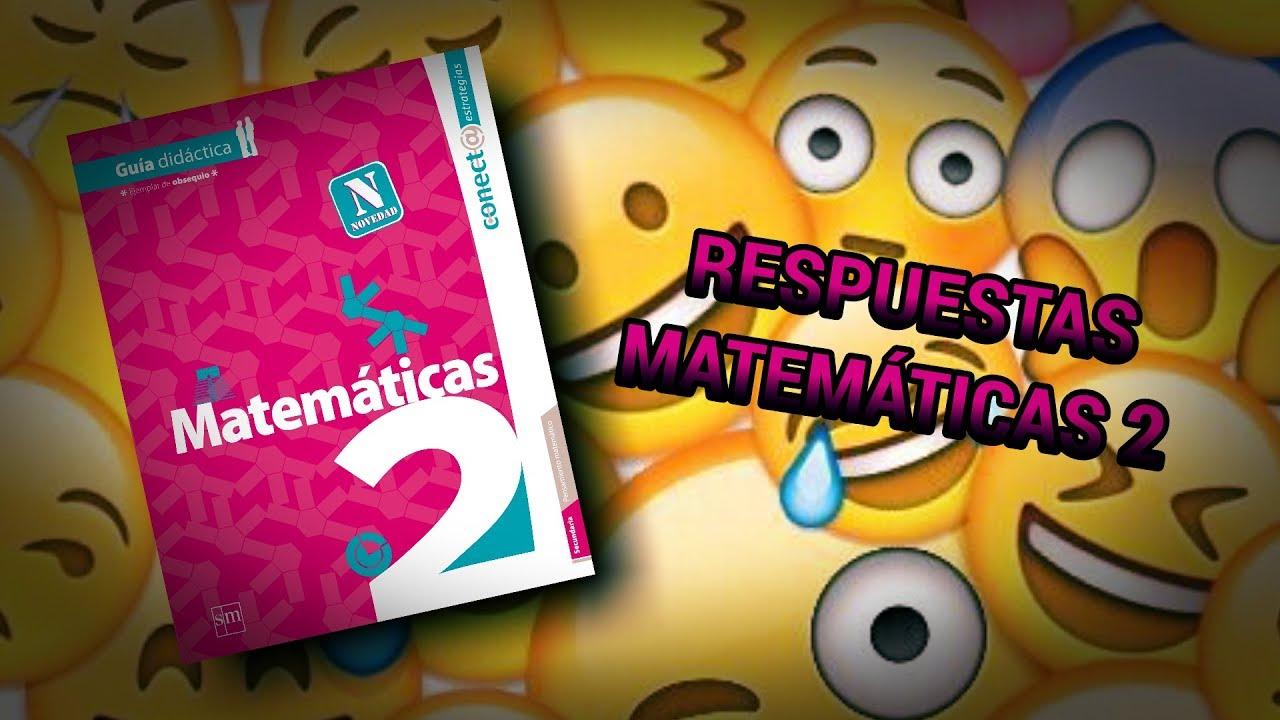 Respuestas Matemáticas 2  Youtube