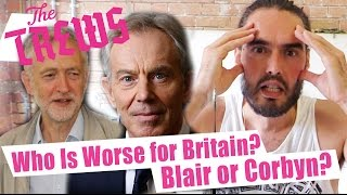 Who Is Worse For Britain - Blair Or Corbyn? Russell Brand The Trews (E364) thumbnail