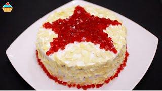 Торт Рубиновая ЗВЕЗДА Оочень вкусный Простой рецепт на 23 февраля