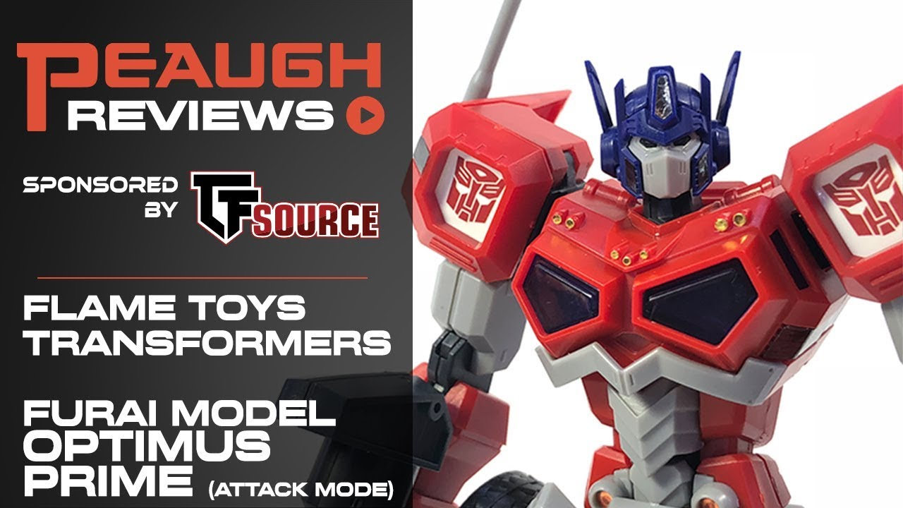 Video Review Flame Toys Furai Model Optimus Prime Attack Mode