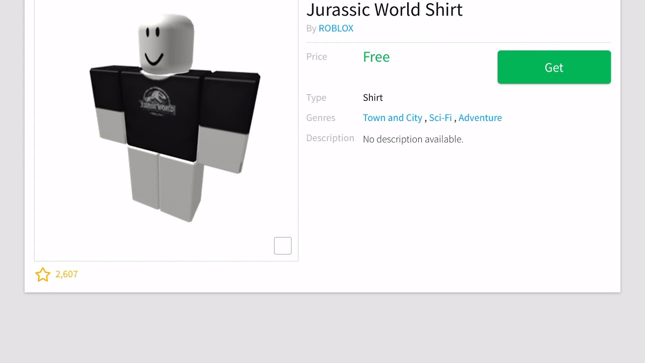 How To Get The Jurassic World T-Shirt - Roblox