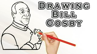 Drawing Bill Cosby | Draw Easy For Kids | Drawing Famous People Bill Cosby