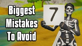 The Seven Biggest Mistakes You're Making In Fortnite Chapter 2!